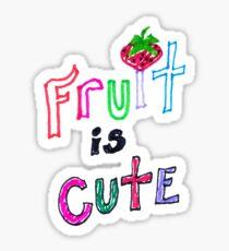 Fruit is Cute Sticker