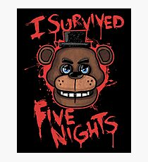 I Survived Five Nights At Freddy's Pizzeria Photographic Print