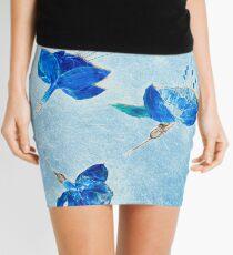 Fuchsias in Flight Mini Skirt