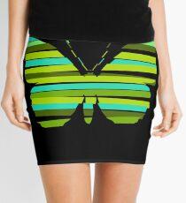 Strip butterfly Mini Skirt