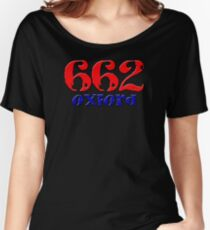 Oxford Mississippi MS Hotty Toddy Rebs Colonel Hometown Downtown Square Area Code 662 Women's Relaxed Fit T-Shirt