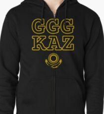 Sudadera con capucha y cremallera GGG Golovkin Golovkin Kazajstán Golpe de oro