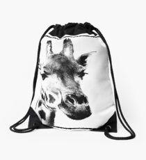 Gentle Giraffe Drawstring Bag