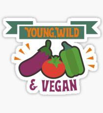Design for vegans Sticker