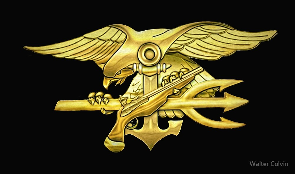 Gold U.S. Navy Seal Trident by Walter Colvin