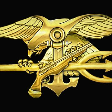 Gold U.S. Navy Seal Trident by Skyviper
