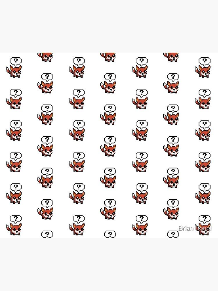 Mignon Fox Pixel Art Housse De Couette