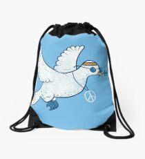 The Hippie Dove Drawstring Bag
