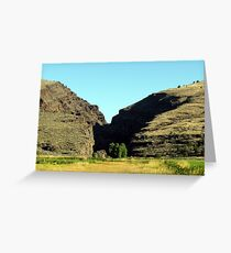 Picture Gorge, Central Oregon Greeting Card