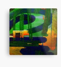 Abstrakte Landschaft Metal Print