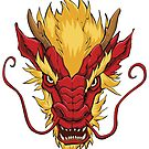 Chinese Dragon Head Red by Malchev