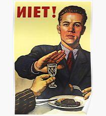 Antialkohol-Weinlese-Sowjet-Propaganda Poster