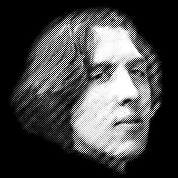 Oscar Wilde close-up portrait by kislev