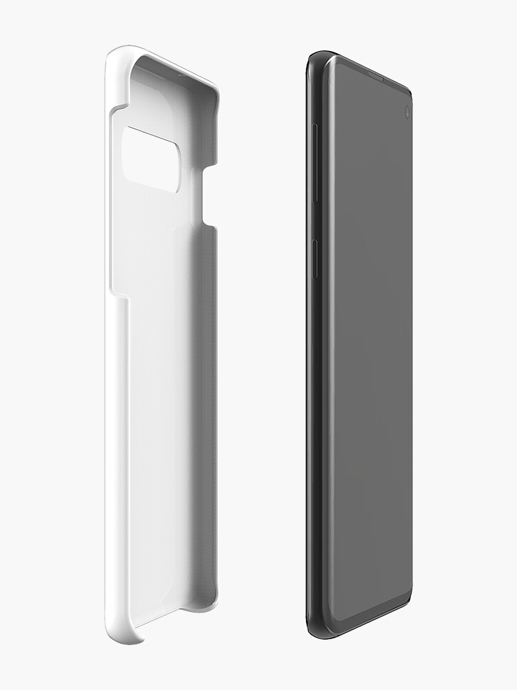 Alternate view of New York City (black type ON WHITE) Case & Skin for Samsung Galaxy