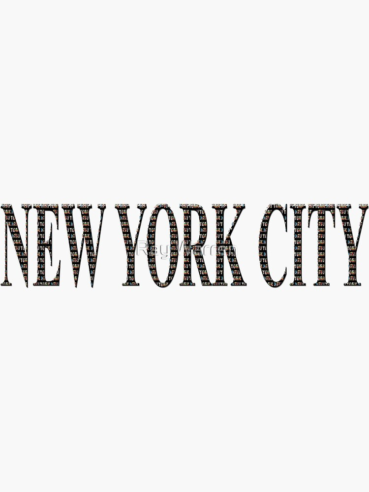 New York City (black type ON WHITE) by RayW