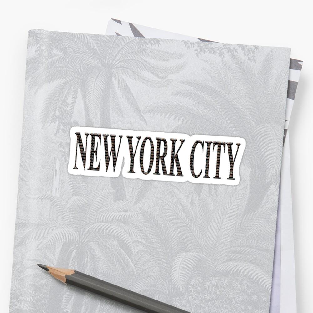 New York City (black type ON WHITE) Sticker