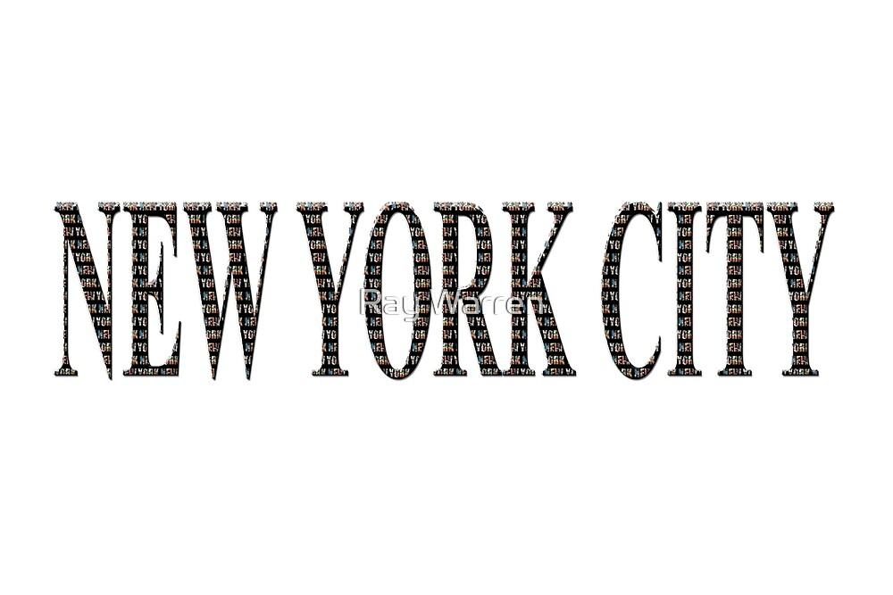 New York City (black type ON WHITE) by Ray Warren