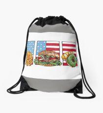 American Food Drawstring Bag