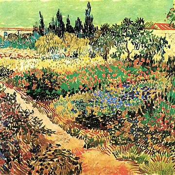 'Flowering Garden With Path' by Vincent Van Gogh (Reproduction) by RozAbellera