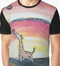 Giraffe Has a Snack Graphic T-Shirt