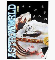Astroworld White Horse Logo Poster