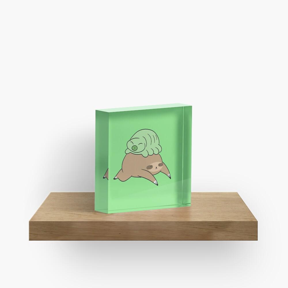 Sloth and Little Waterbear Acrylic Block