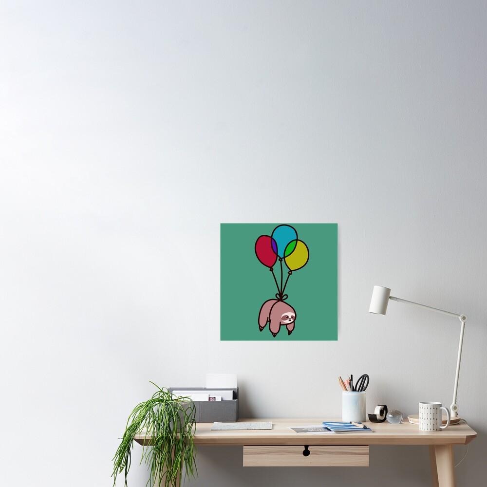 Balloon Sloth Poster