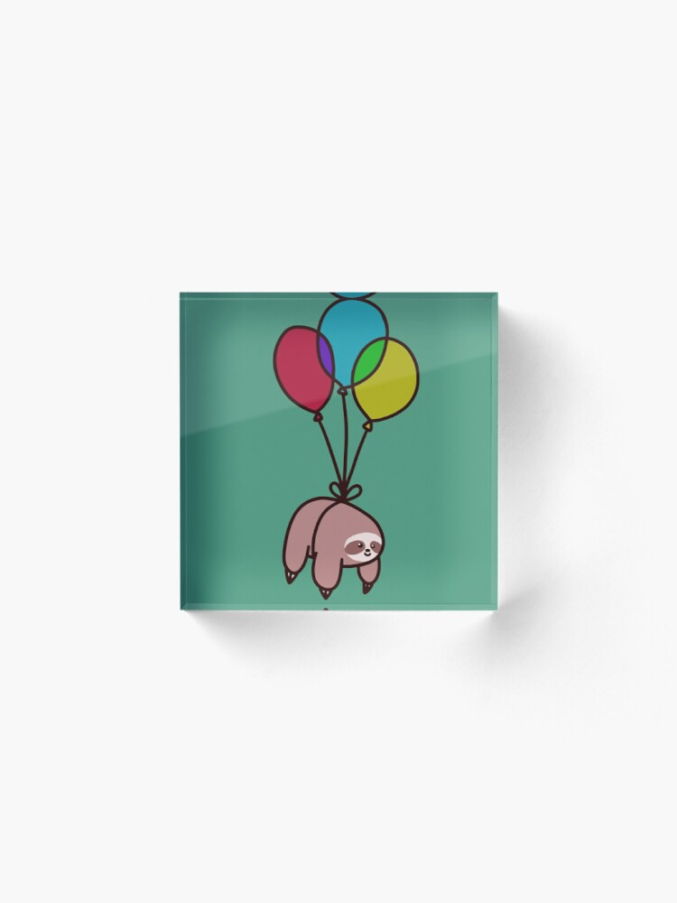 Alternate view of Balloon Sloth Acrylic Block