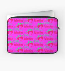 My Dog Is My Valentine Colorful Laptop Sleeve