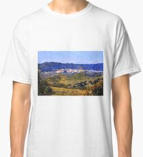 Calabria landscape with Catanzaro city and mountain  Classic T-Shirt