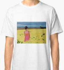 Woman Alone In A Field Classic T-Shirt
