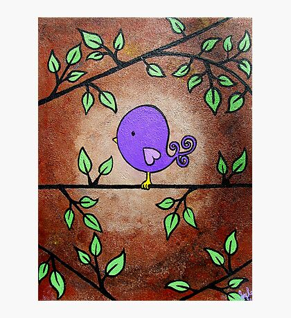 Purple Birdy Photographic Print
