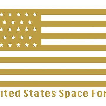 United States Space Force - Gold Flag by GreatAwakening