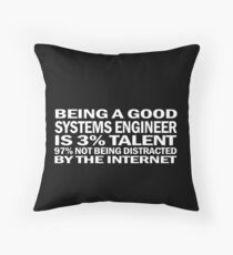 Systems engineer is 3% talent Floor Pillow