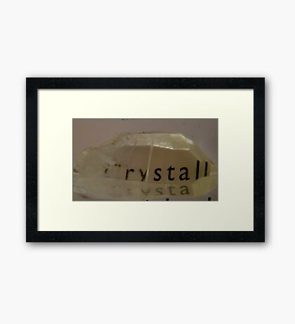 CRYSTAL WORDS Framed Print