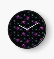 Neon Flies Clock