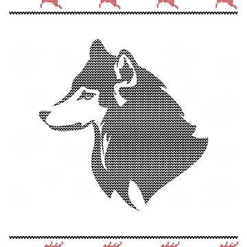 Ugly Christmas Siberian Husky Dog by EstelleStar