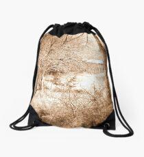 Old Barn Sepia Drawstring Bag
