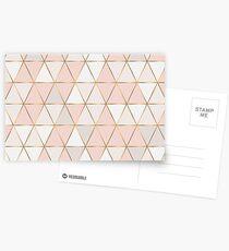 geometric rose gold Postcards
