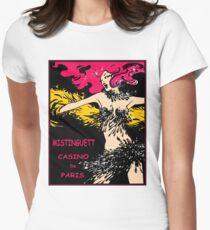 CASINO DE PARIS : Vintage Mistinguett Cabaret Advertising Print Women's Fitted T-Shirt