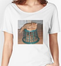 Evil & Trapped Cat Women's Relaxed Fit T-Shirt