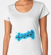 Silhouette musical lightblue and black silhouette Women's Premium T-Shirt