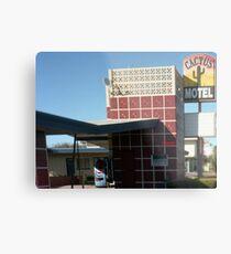 Cactus Motel Metal Print
