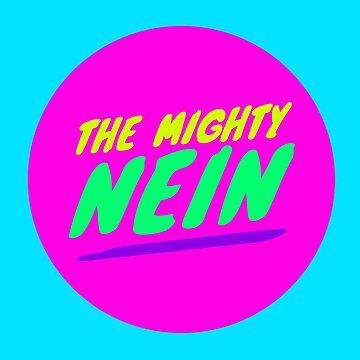 Mighty Nein Retro Logo - Neon Palette 1 by JMendezArt