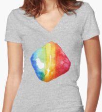Prismatic Shard Women's Fitted V-Neck T-Shirt