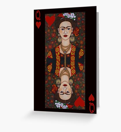 Frida,  Queen of Hearts II Greeting Card