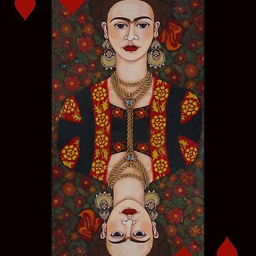 Frida,  Queen of Hearts II by madalenalobaote