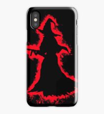 Evil halloween red and black silhouette iPhone Case