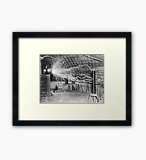 Nikola Tesla History  Framed Print