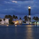 Florida Harbor illuminates the night by Jason Pepe